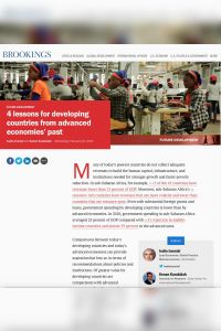 4 Lessons for Developing Countries from Advanced Economies' Past summary