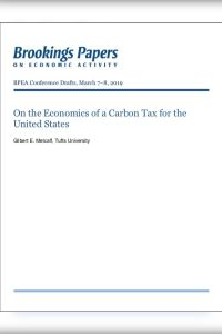 On the Economics of a Carbon Tax for the United States summary