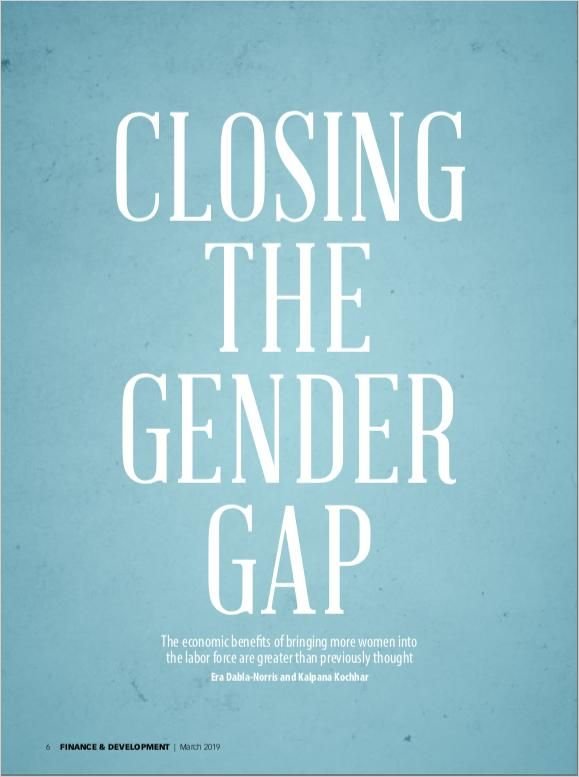 Image of: Closing the Gender Gap