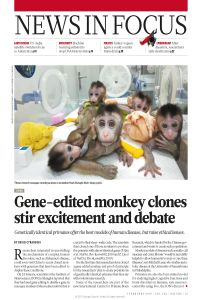 Gene-Edited Monkey Clones stir Excitement and Debate summary