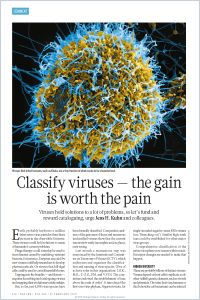 Classify Viruses – The Gain Is Worth the Pain summary