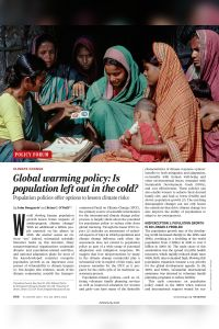 Global Warming Policy: Is Population Left Out in the Cold? summary