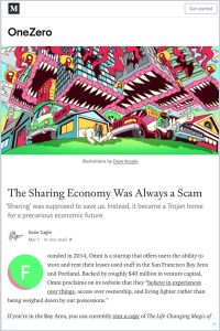 The Sharing Economy Was Always a Scam summary
