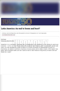 Latin America: An End to Boom and Bust? summary