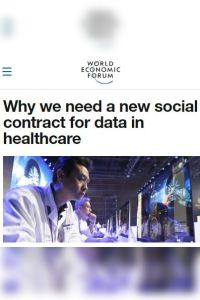 Why We Need a New Social Contract for Data in Healthcare summary