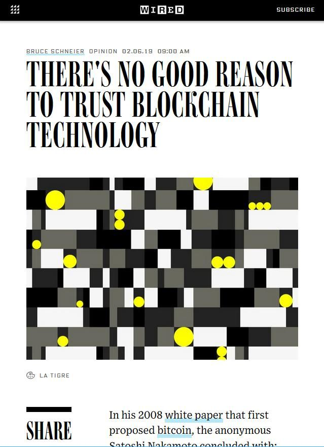 Image of: There's No Good Reason to Trust Blockchain Technology