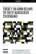 There's No Good Reason to Trust Blockchain Technology