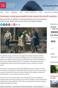 Gutenberg's moving type propelled Europe towards the scientific revolution summary