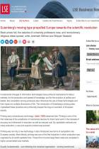 Gutenberg's moving type propelled Europe towards the scientific revolution
