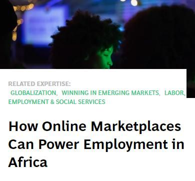 Image of: How Online Marketplaces Can Power Employment in Africa