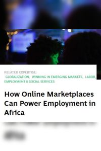 How Online Marketplaces Can Power Employment in Africa summary