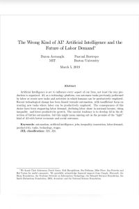 The Wrong Kind of AI? summary
