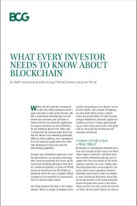 What Every Investor Needs to Know About Blockchain summary
