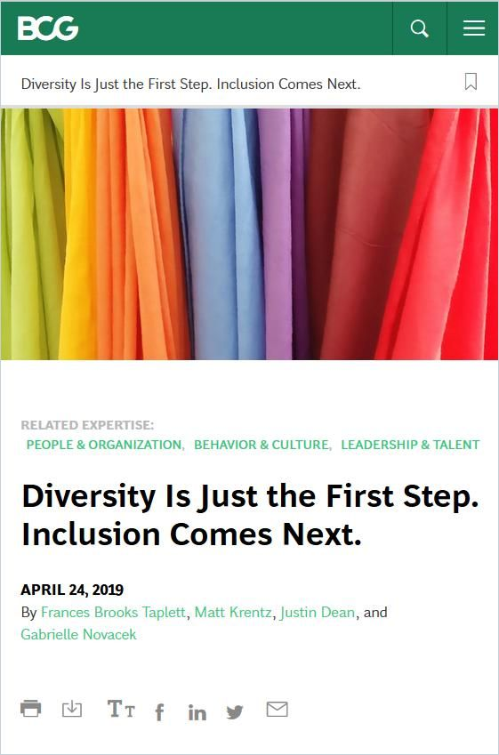 Image of: Diversity Is Just the First Step. Inclusion Comes Next.