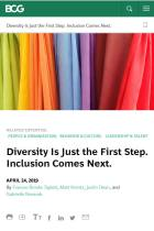 Diversity Is Just the First Step. Inclusion Comes Next.