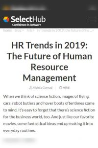HR Trends in 2019 summary