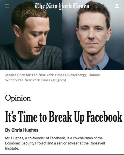 Image of: It's Time to Break Up Facebook