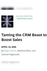 Taming the CRM Beast to Boost Sales summary
