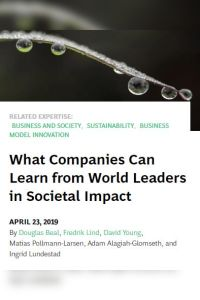 What Companies Can Learn from World Leaders in Societal Impact summary