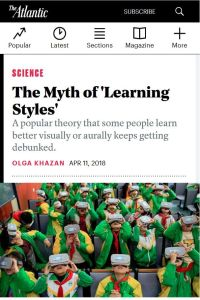 The Myth Of Learning Styles Debunked >> The Myth Of Learning Styles Free Summary By Olga Khazan