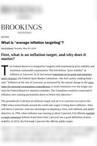 "What Is ""Average Inflation Targeting""? summary"