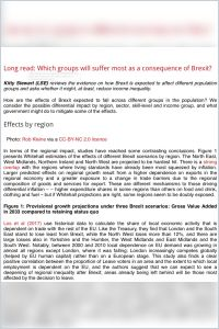 Which Groups Will Suffer Most as a Consequence of Brexit? summary