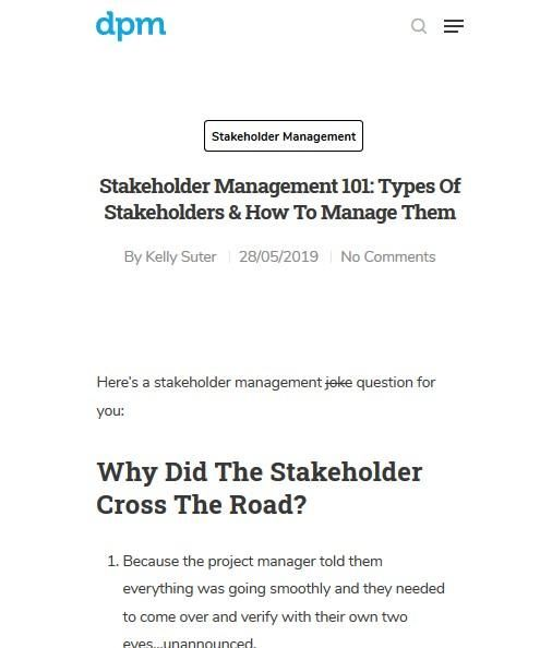 Image of: Stakeholder Management 101