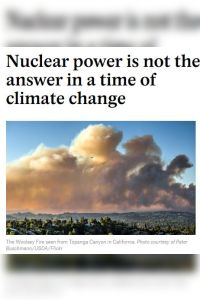 Nuclear Power Is Not the Answer in a Time of Climate Change summary