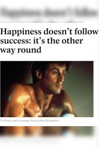 Happiness Doesn't Follow Success summary