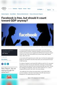 Facebook is free, but should it count toward GDP anyway? summary