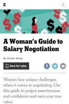 A Woman's Guide to Salary Negotiation