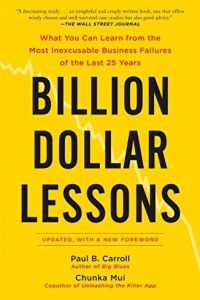 Billion Dollar Lessons book summary