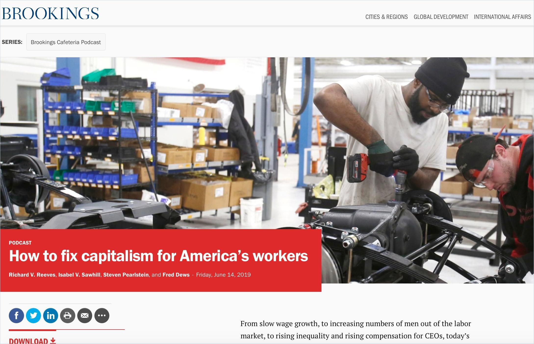 Image of: How To Fix Capitalism for America's Workers