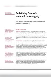 Redefining Europe's Economic Sovereignty summary