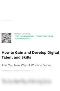 How to Gain and Develop Digital Talent and Skills summary