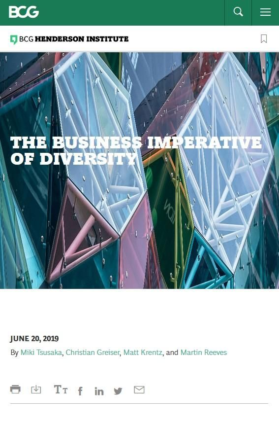 Image of: The Business Imperative of Diversity