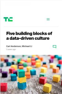 Five Building Blocks of a Data-Driven Culture summary