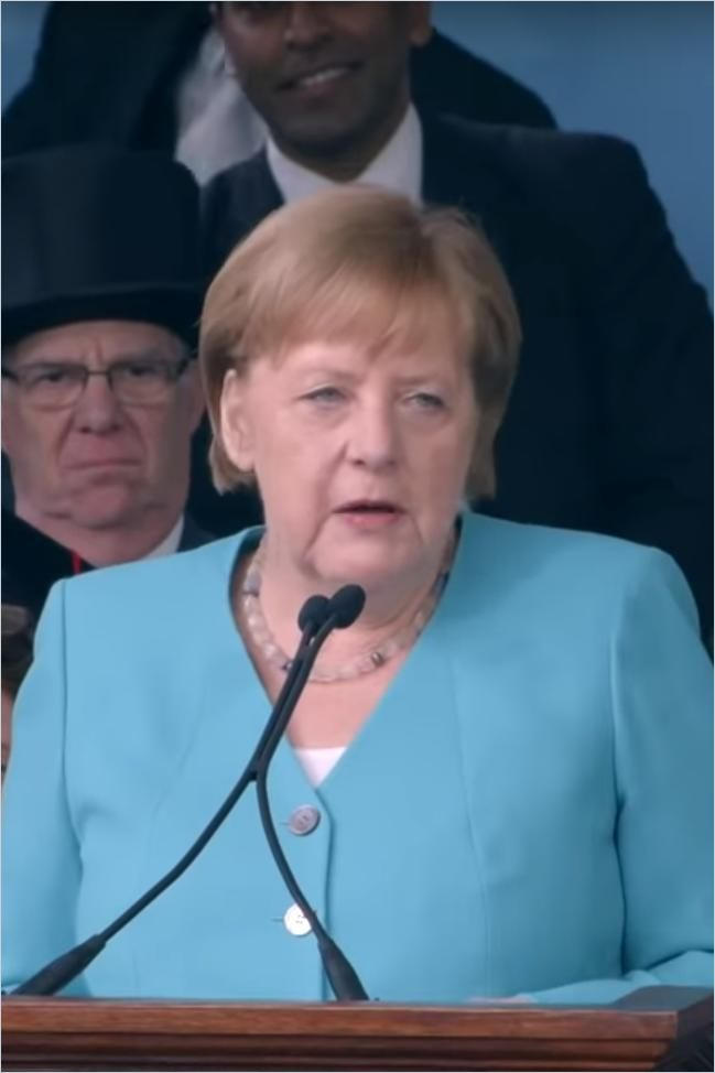Image of: German Chancellor Angela Merkel's Harvard Commencement Address