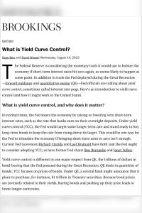 What is Yield Curve Control? summary