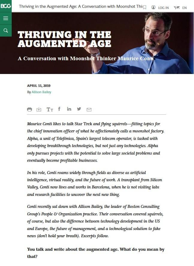 Image of: Thriving in the Augmented Age