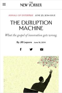 The Disruption Machine summary