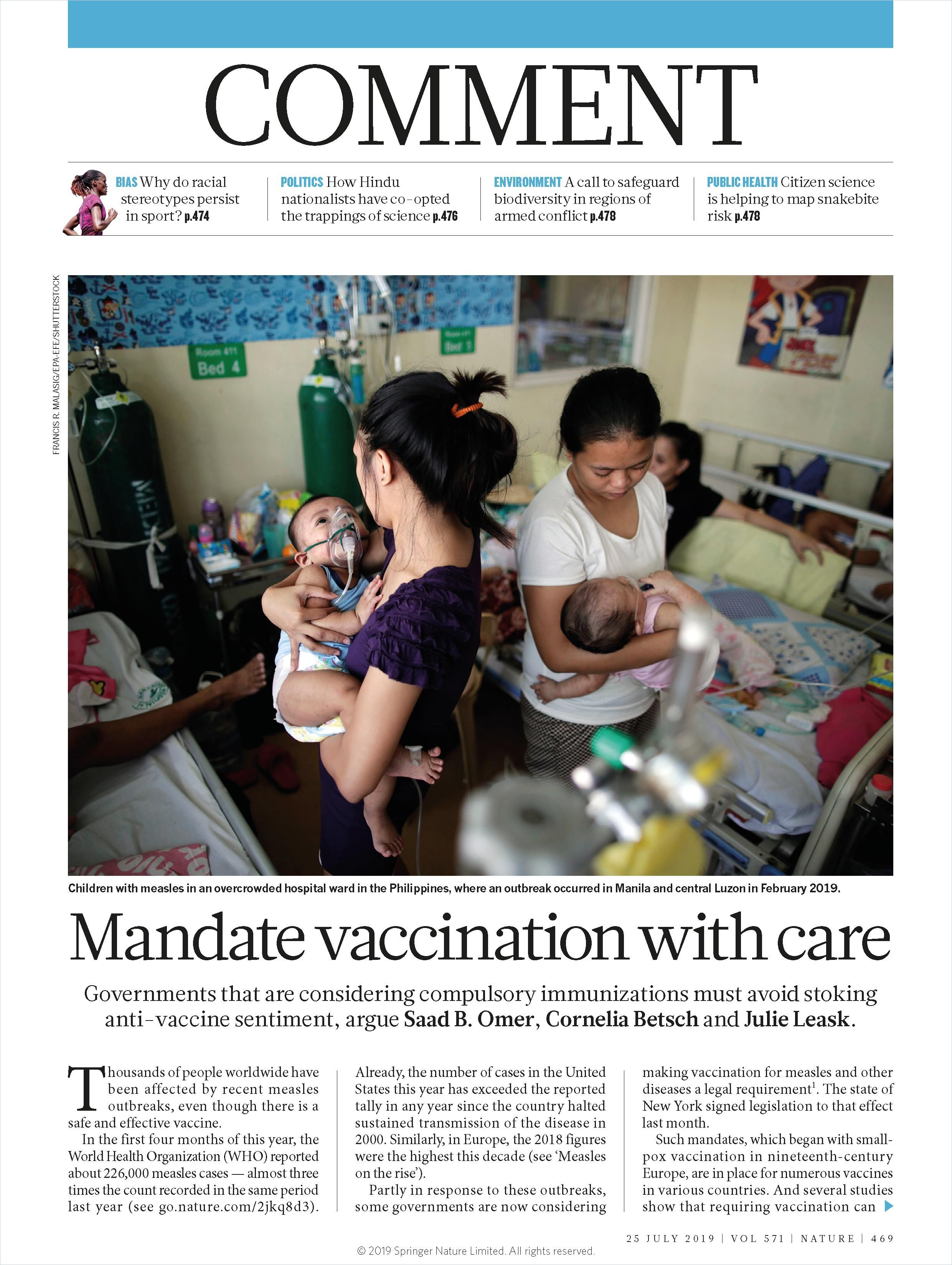Image of: Mandate Vaccination with Care