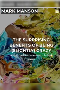 The Surprising Benefits of Being (Slightly) Crazy summary