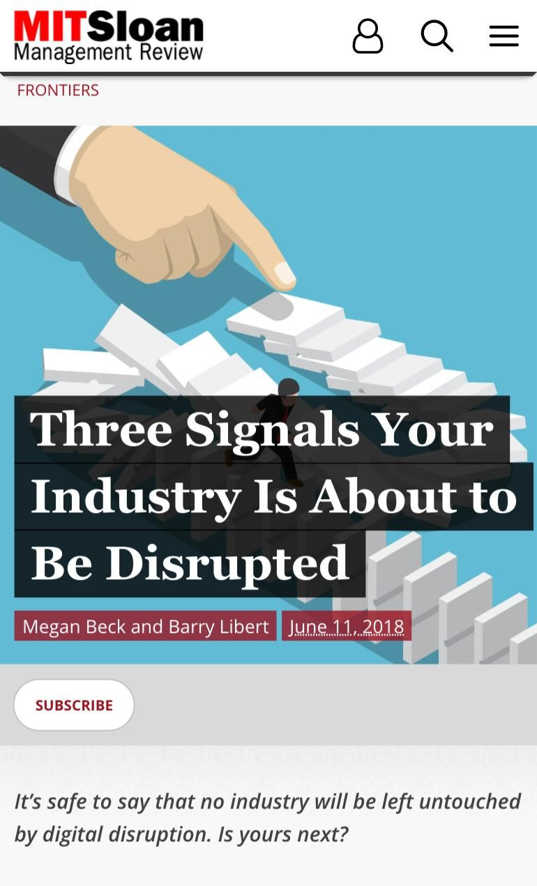 Image of: Three Signals Your Industry Is About to Be Disrupted