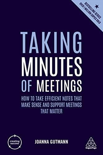Image of: Taking Minutes of Meetings