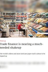 Trade finance is nearing a much-needed shakeup summary