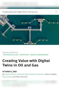 Creating Value with Digital Twins in Oil and Gas summary