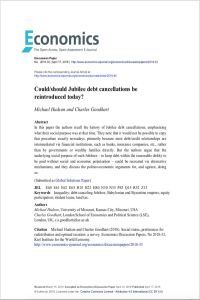 Could/Should Jubilee Debt Cancellations Be Reintroduced Today? summary
