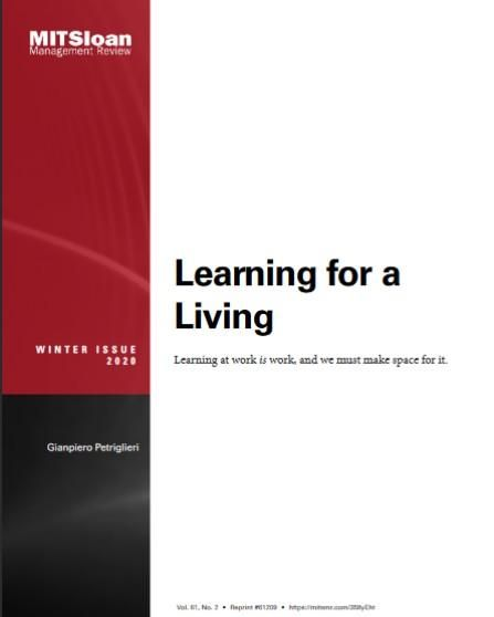 Image of: Learning for a Living