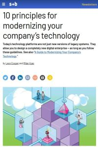 10 Principles for Modernizing Your Company's Technology summary